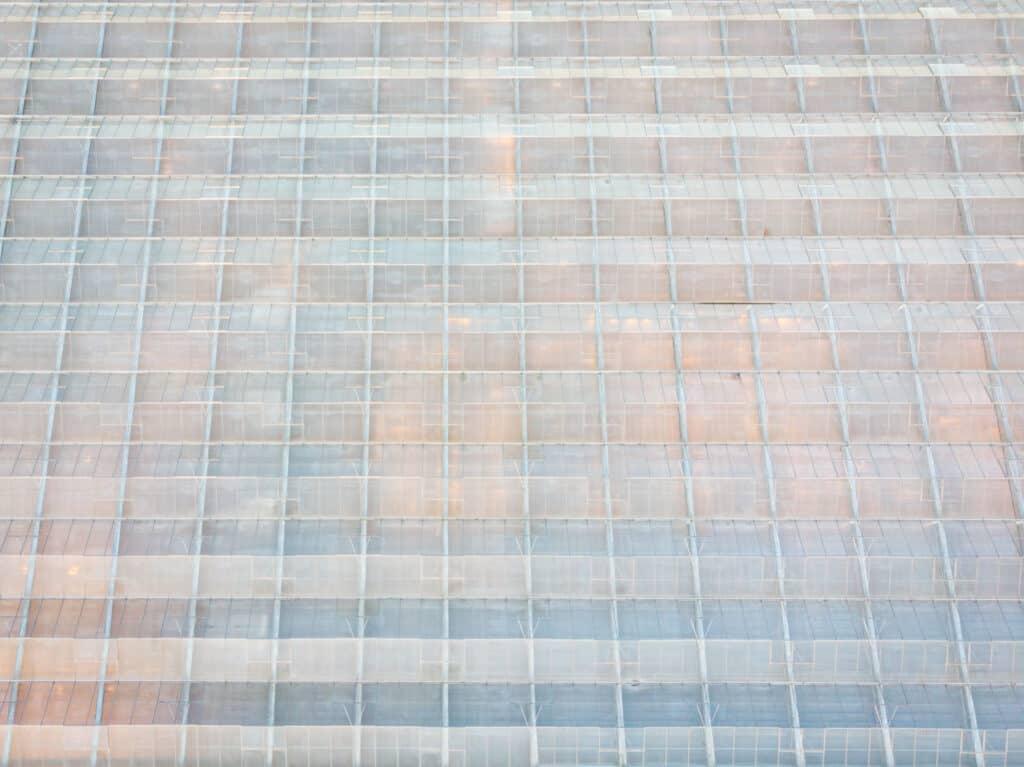 Dronefotografie van een kas.