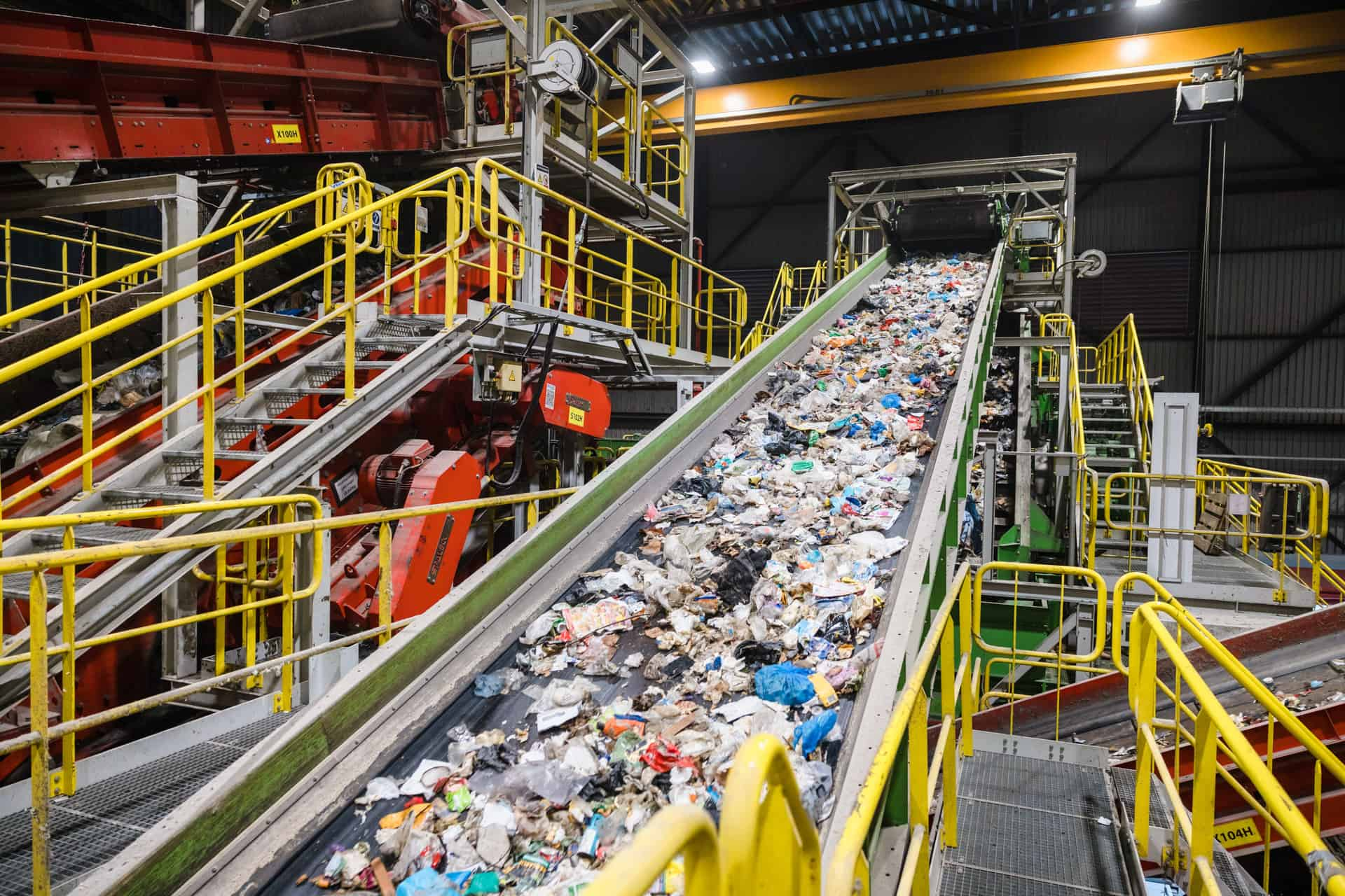 plastic afval bedrijf.